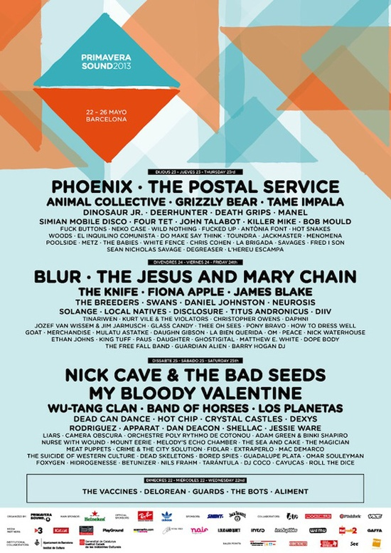 Cartel confirmado: Primavera Sound 2013