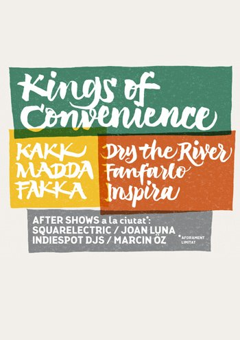 Nuevo festival en Barcelona con Kakkmaddafakka y Kings Of Convenience.