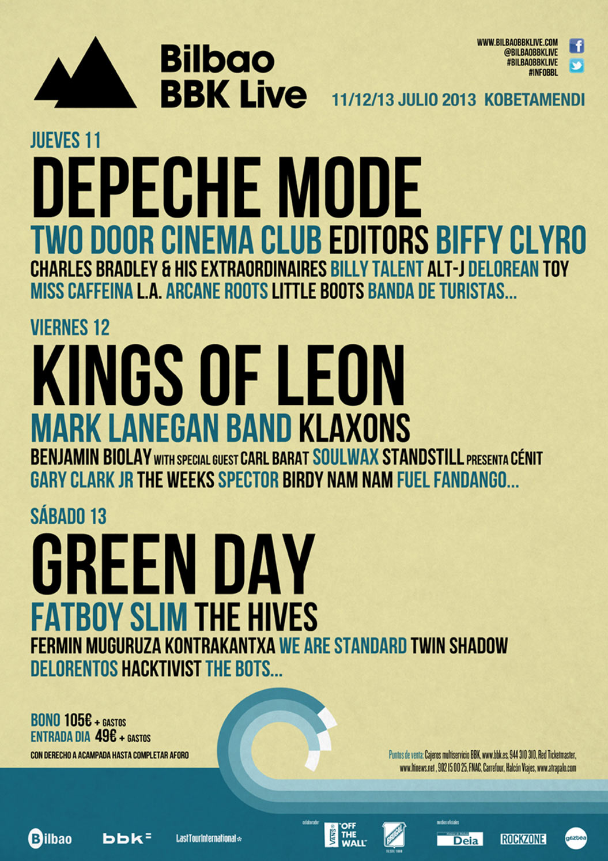 16 grupos más al Bilbao BBK Live.