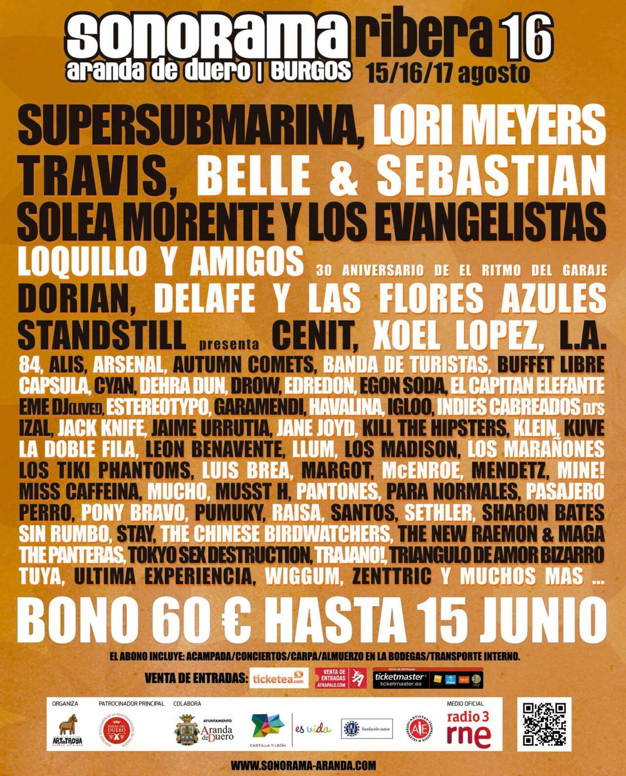 Cartel: Sonorama Ribera
