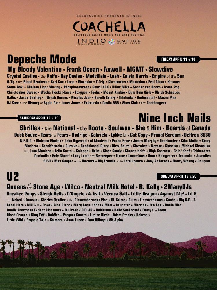 Primer cartel falso del Coachella 2014.