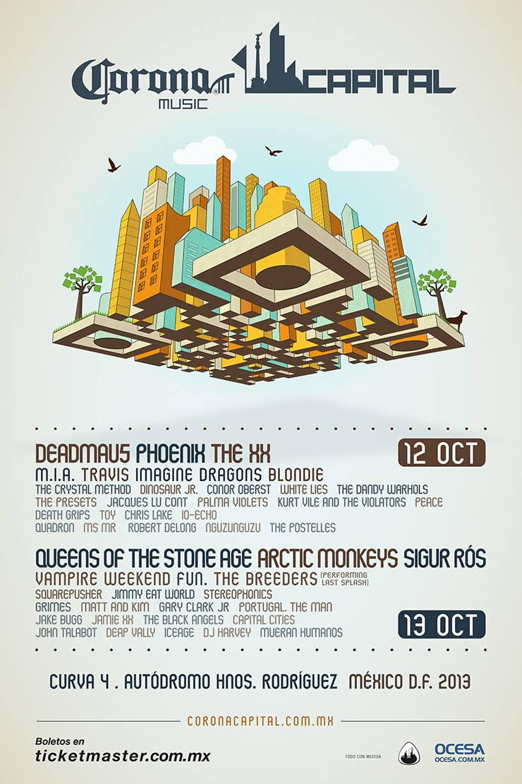 Cartel completo Corona Capital 2013