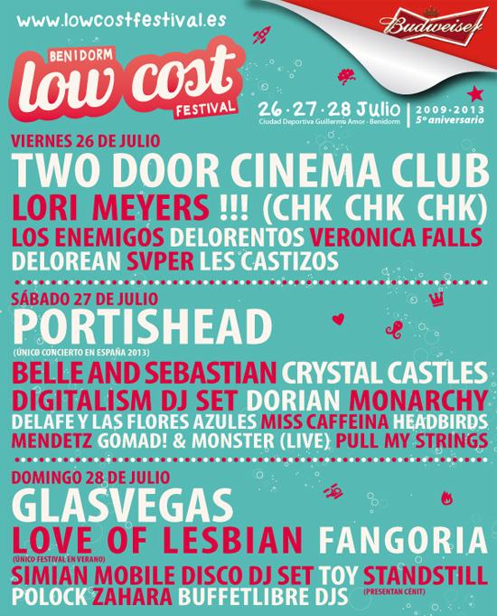 Low Cost Festival por días