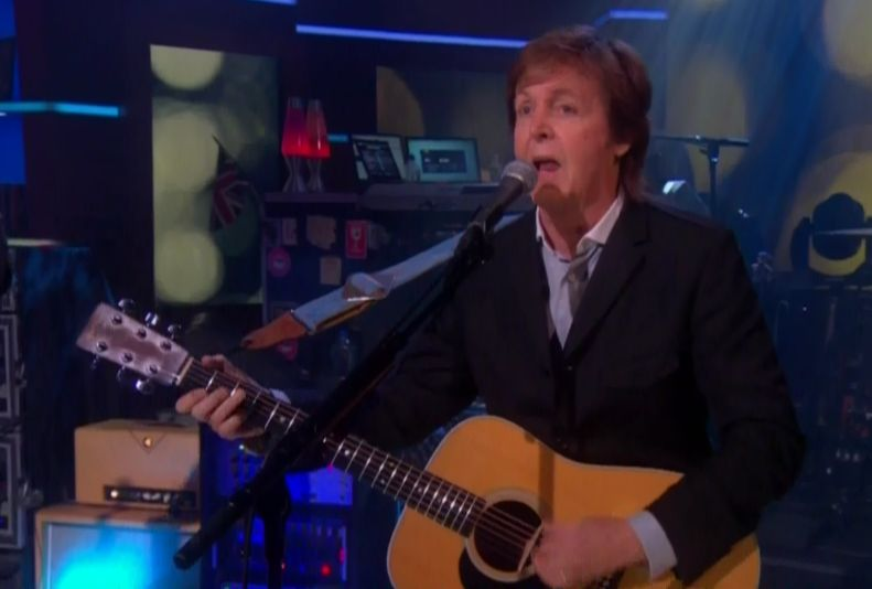 Paul McCartney en directo en The Colbert Report