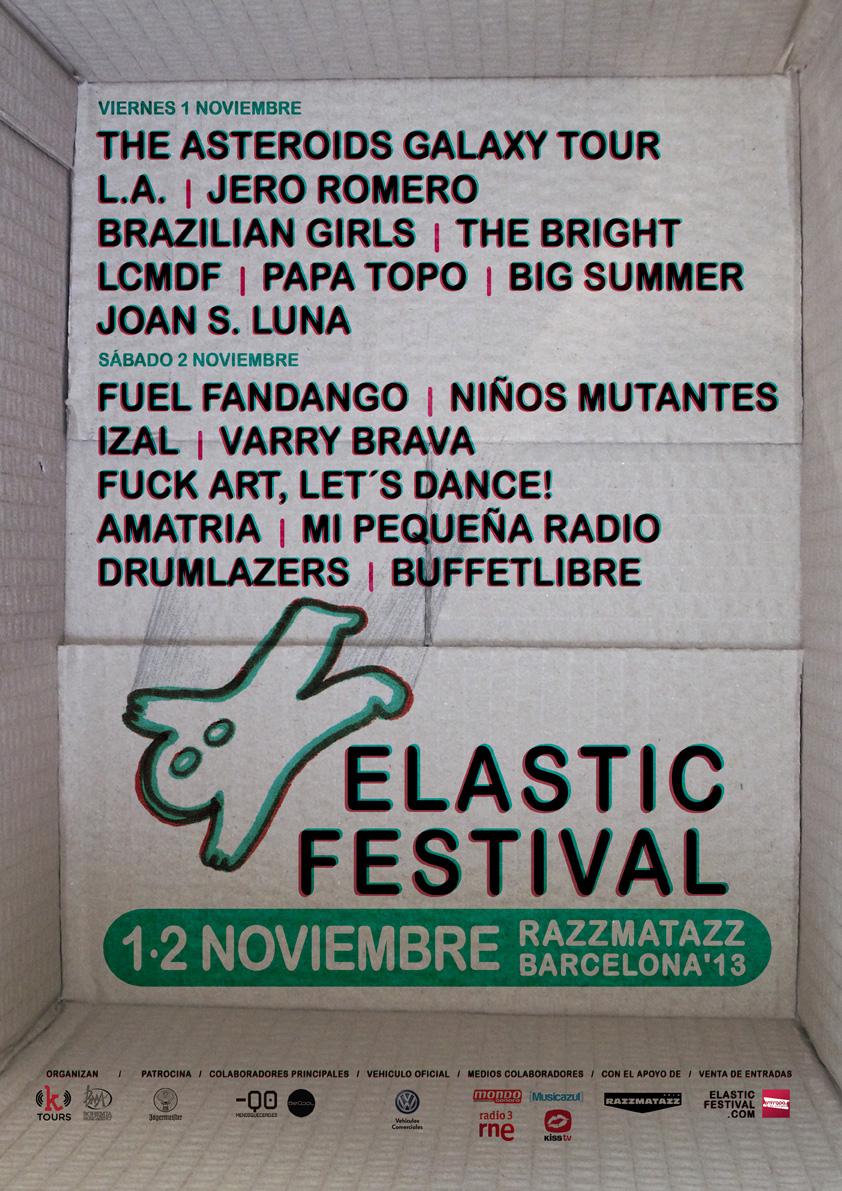 Cartel y fechas del Elastic Festival