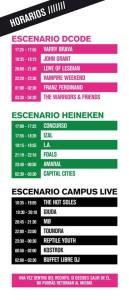 horarios dcode 2013