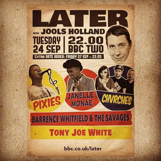 Actuaciones de Pixies, CHVRCHES y Janelle Monáe en Jools Holland