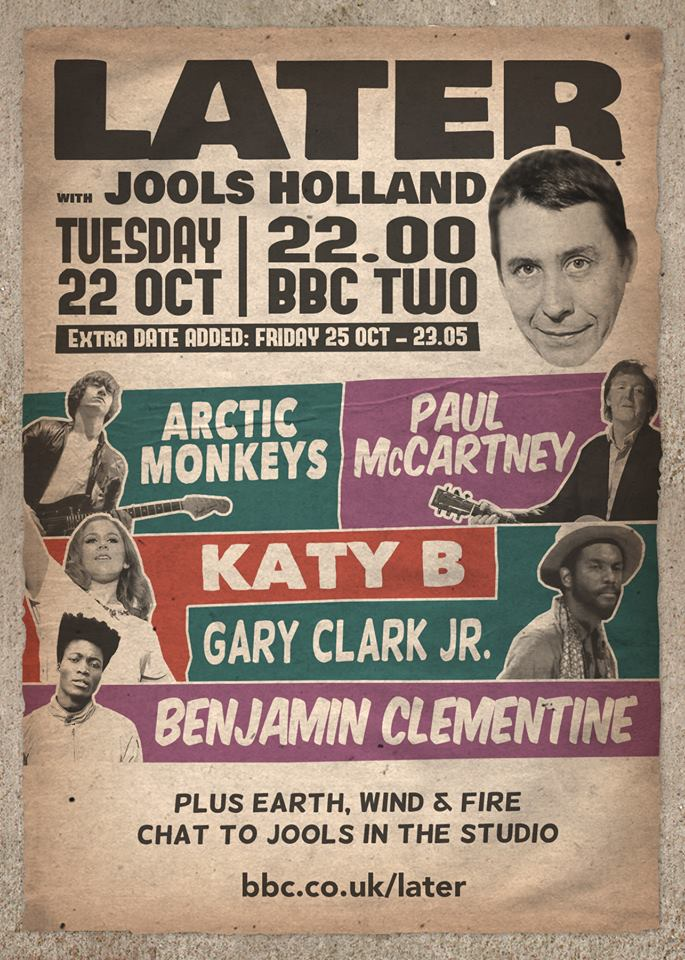 Paul McCartney y Arctic Monkeys en Jools Holland