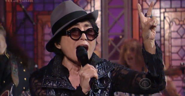 yoko ono wtf letterman flaming lips