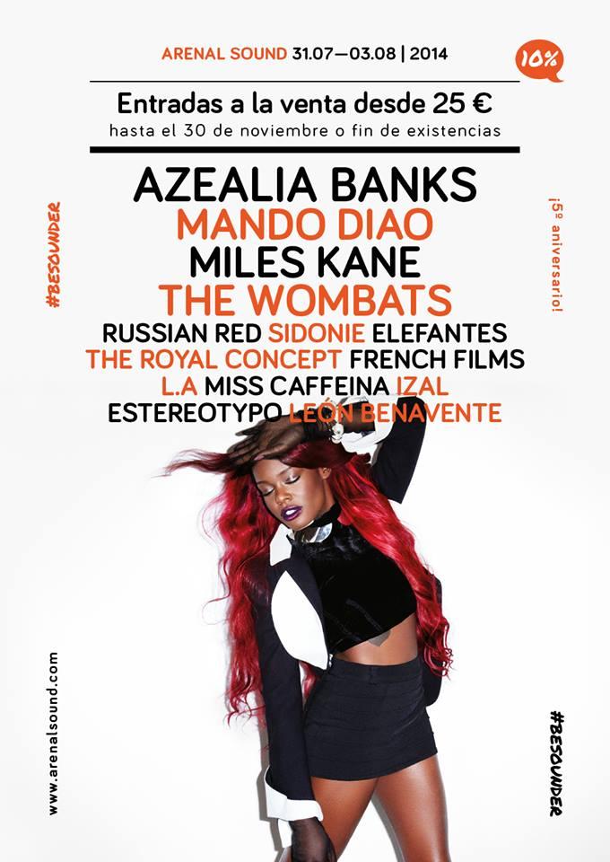 Mando Diao o Azealia Banks: Primeras confirmaciones Arenal Sound 2014