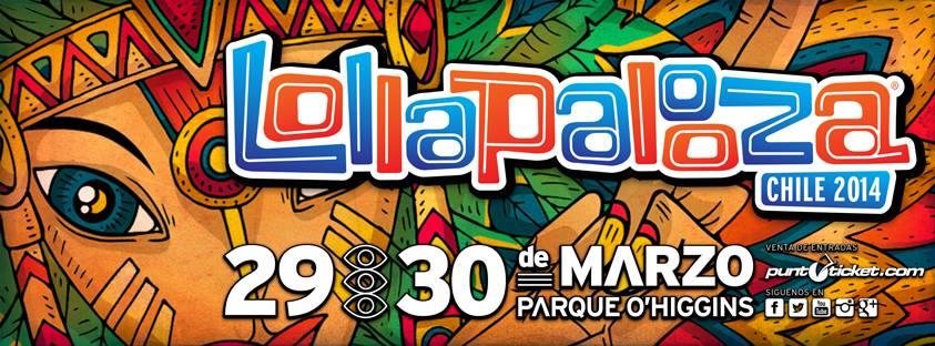 Cartel del Lollapalooza Chile y Argentina 2014