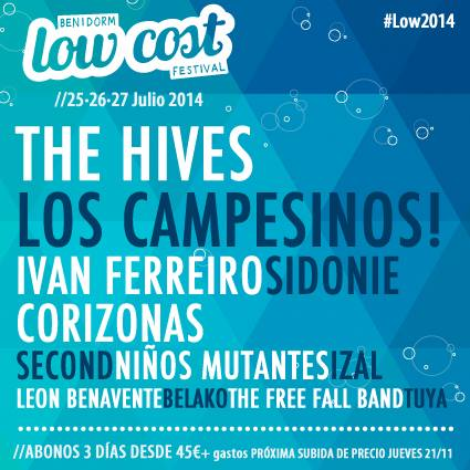 Primeros confirmados del Low Cost Festival 2014: The Hives…