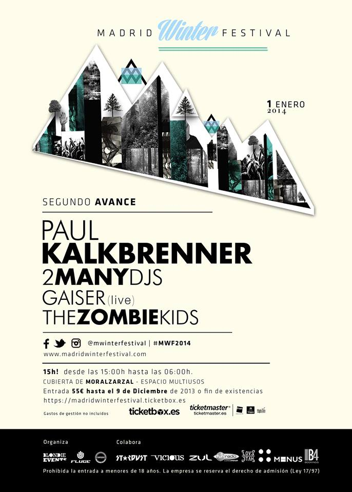 Madrid Winter Festival: 2 Many Dj's y Paul Kalkbrenner se unen al cartel
