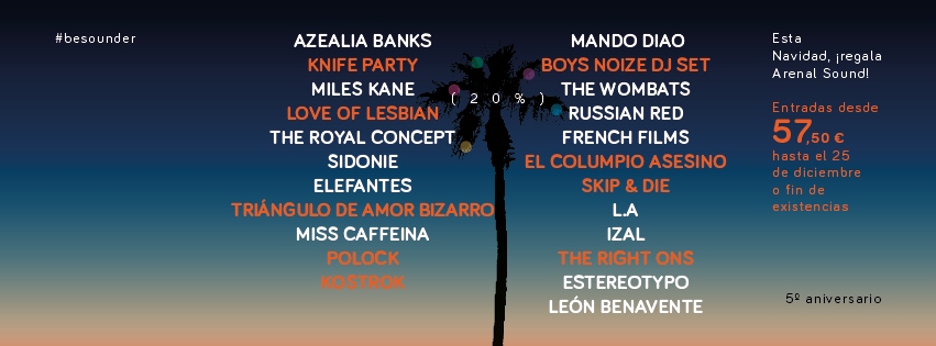 arenal sound 2014 cartel