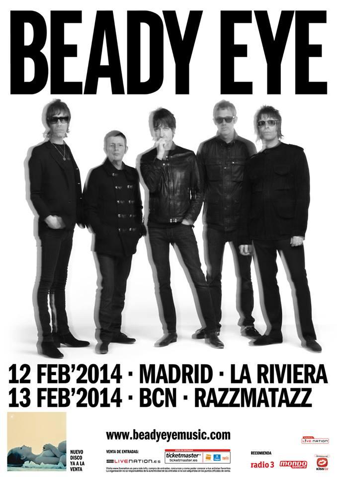 Beady Eye volverán a España en febrero