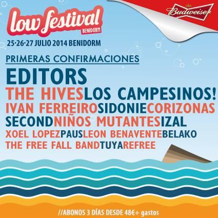 Editors, Xoel López, Paus y Refree al Low Festival 2014