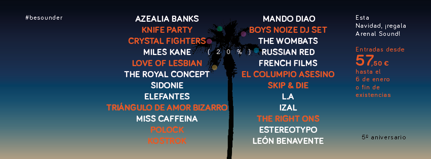 arenal sound 2014 cartel 2