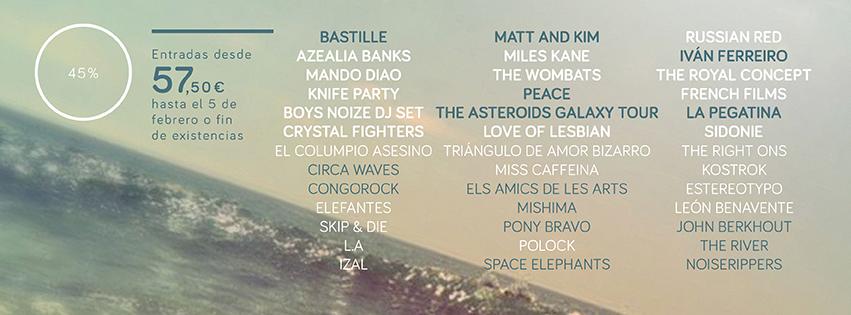 Bastille, Peace o La Pegatina, nuevas confirmaciones del Arenal Sound