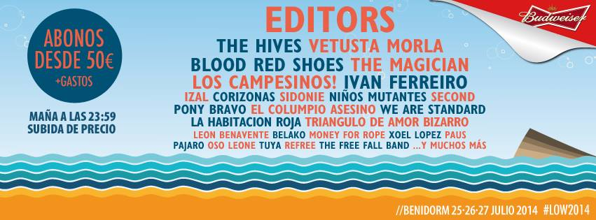 Low Festival: Vetusta Morla, Blood Red Shoes y más bandas confirmadas