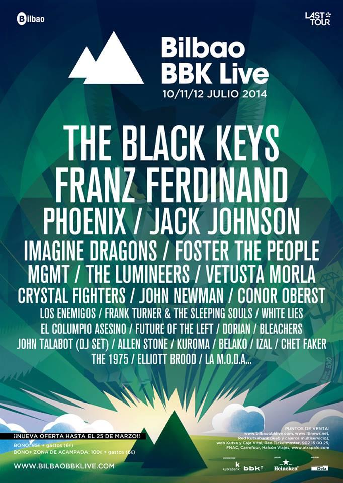 9 nuevas bandas confirmadas para el Bilbao BBK Live 2014