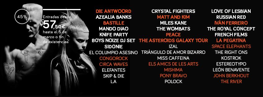 Die Antwoord, al Arenal Sound 2014