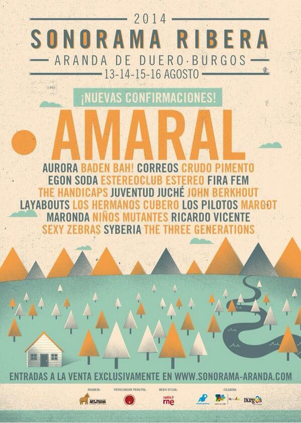 Layabouts, Niños Mutantes o Amaral, al Sonorama Ribera 2014