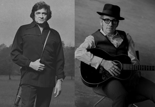 "Elvis Costello remezcla ""She Used to Love Me a Lot"" de Johnny Cash"