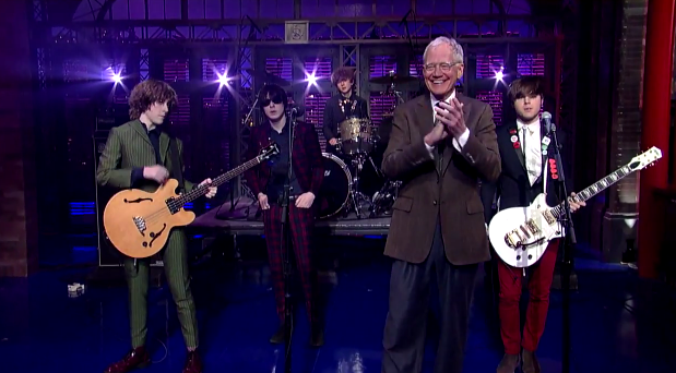 Letterman alucina con la actuación de The Strypes