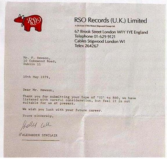 Así rechazó una discográfica a U2 en 1979