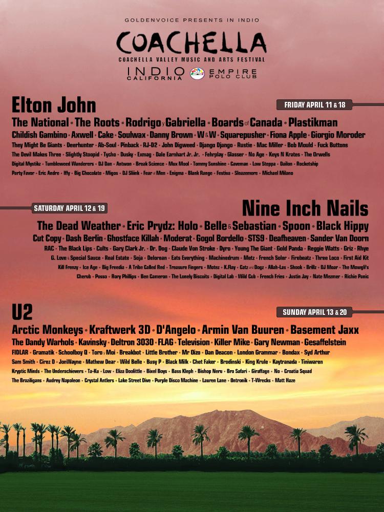 Primer cartel falso del Coachella 2015