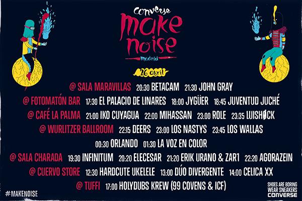 Vuelve el Converse Make Noise con un día plagado de conciertos gratis