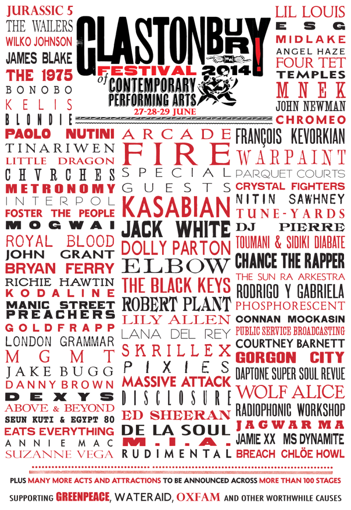 glastonbury 2014 cartel