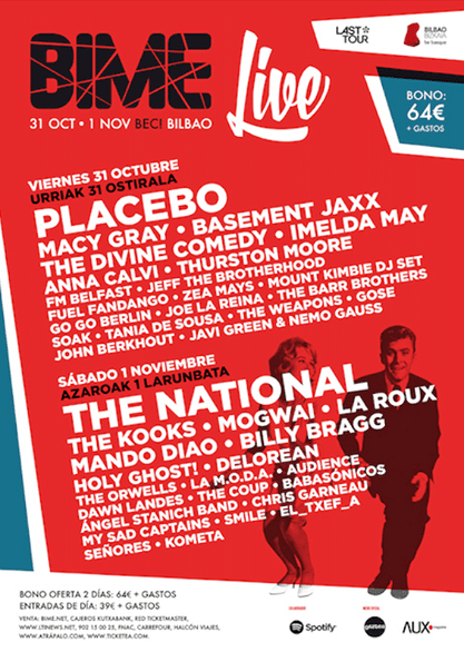 The National, Placebo…El Bime 2014 calienta motores