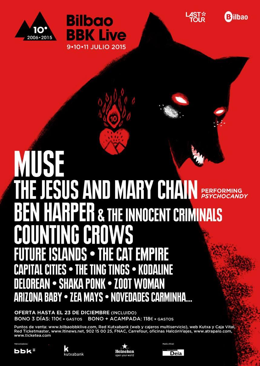 The Jesus and Mary Chain o Future Islands, nuevos confirmados del BBK 2015