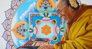 Dalai Lama en Glastonbury