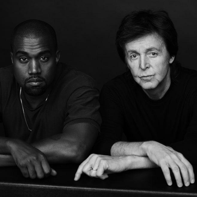Kanye West saluda al nuevo año con un nuevo tema junto a Paul McCartney