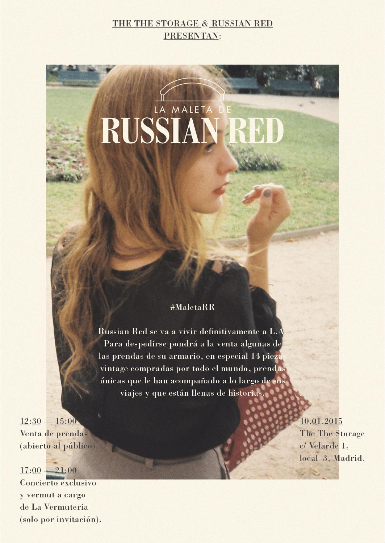 Russian Red se despide de Madrid con un acústico y vendiendo su ropa