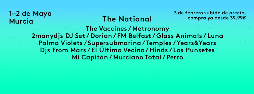 El SOS 2015 se desmarca con The National, Temples o 2 Many Dj's