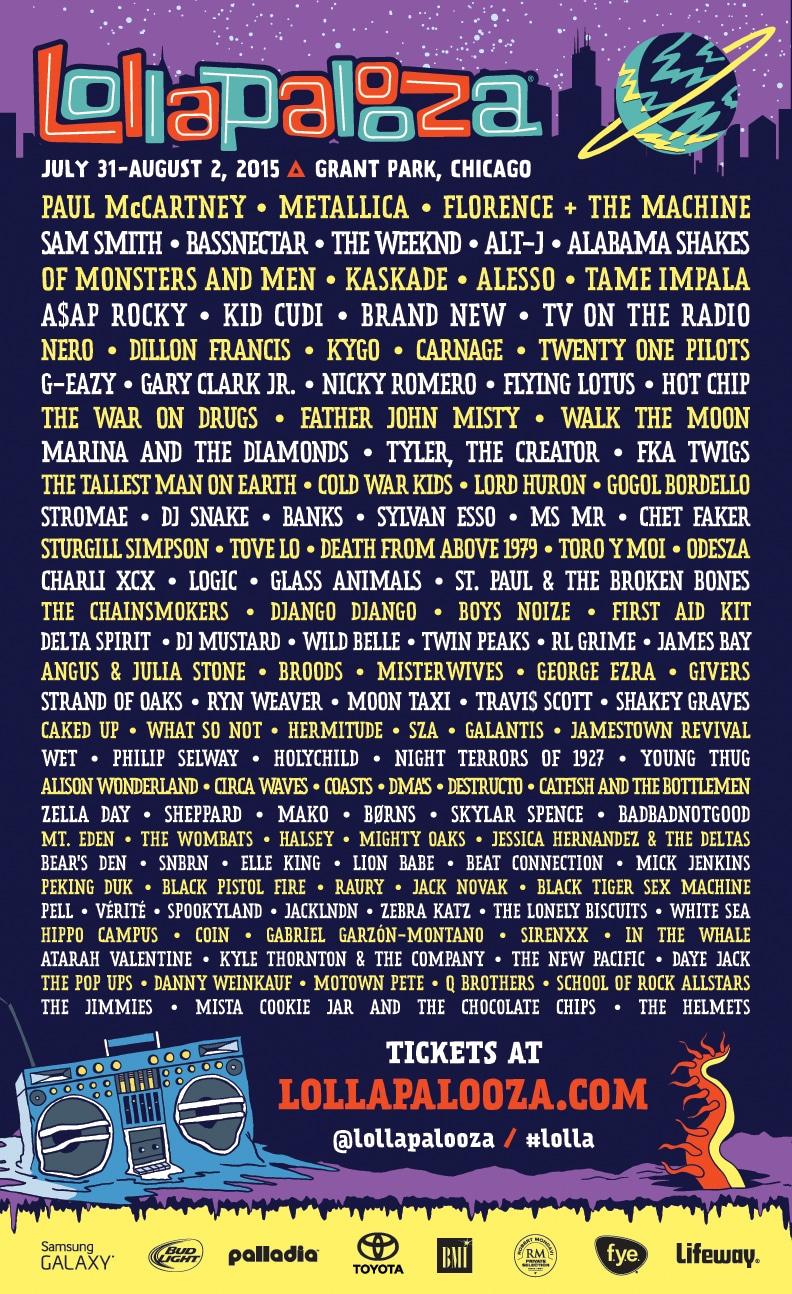 El Lollapalooza 2015 desvela su cartel