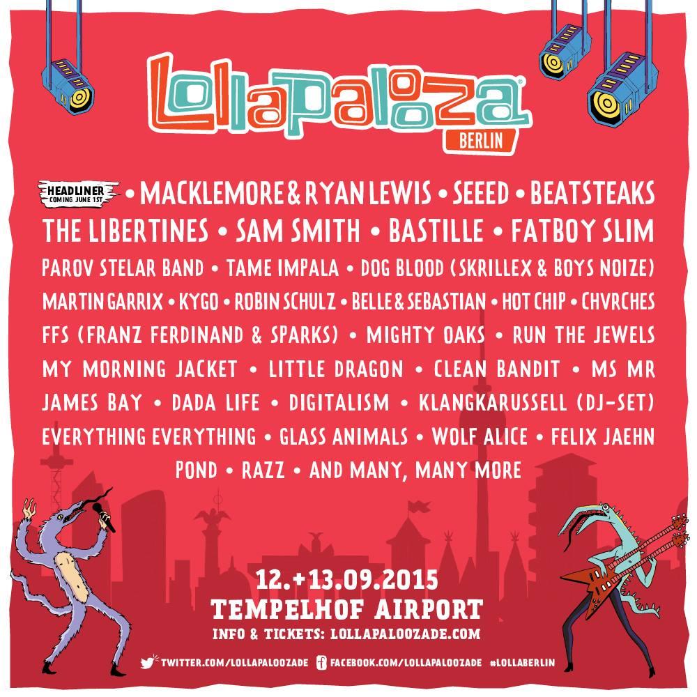 Lollapalooza debuta en Berlín con un cartelazo