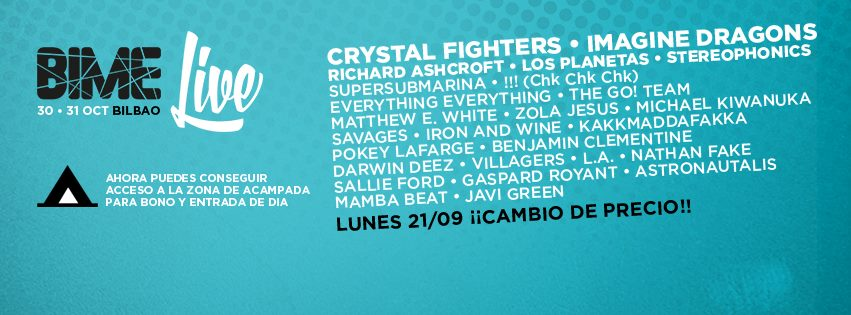 Richard Ashcroft, Crystal Fighters, Los Planetas… Cartel completo del BIME 2015
