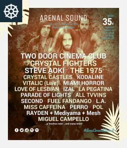 arenal sound 2016 cartel