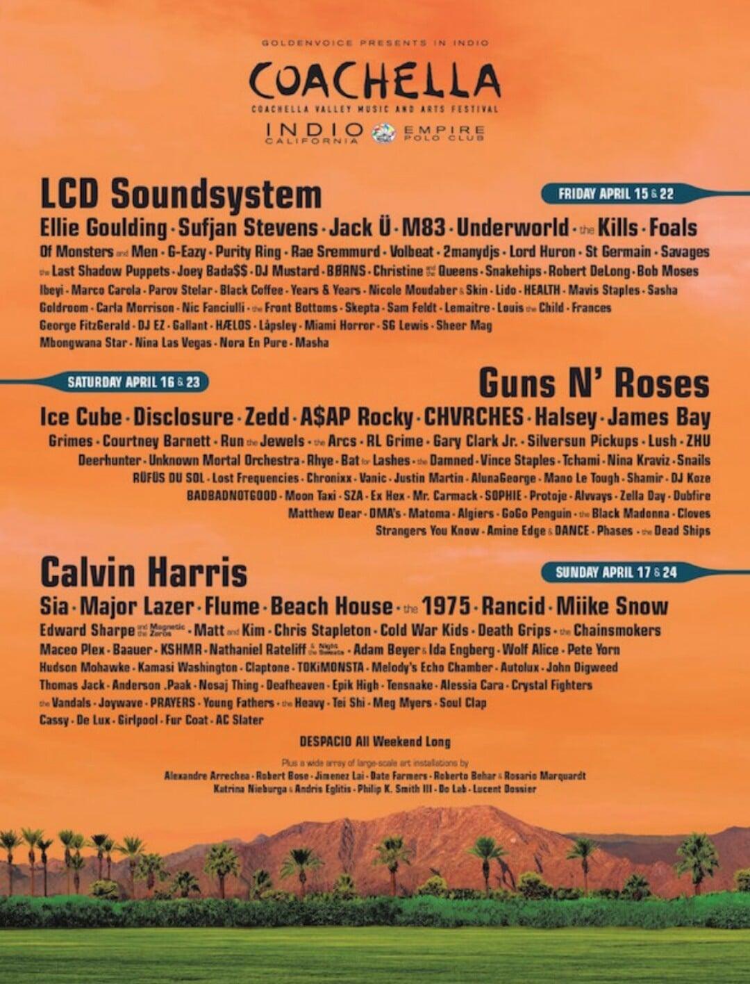 Este es el cartel del Coachella 2016