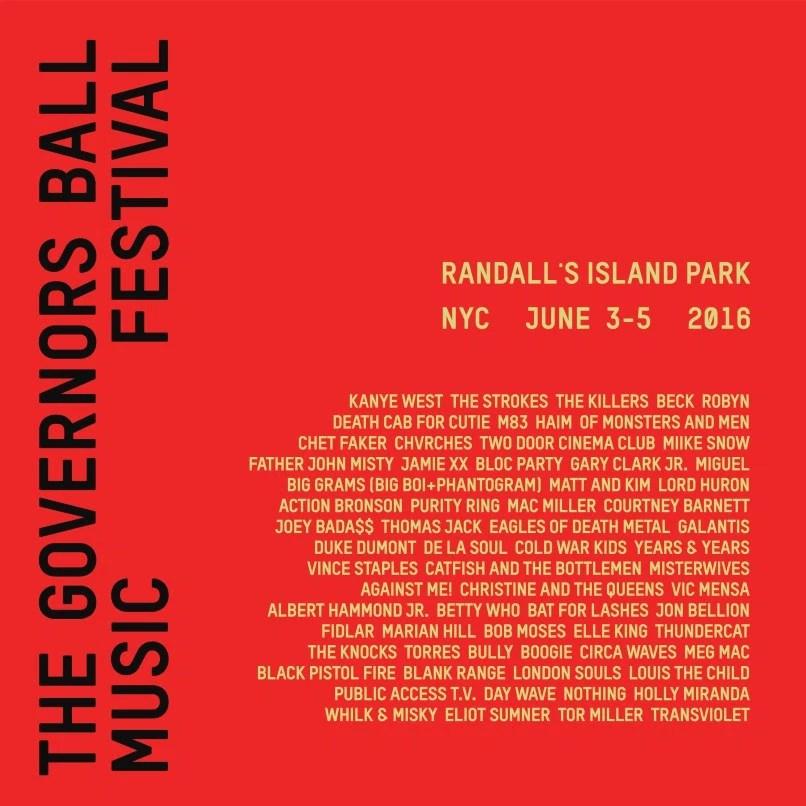 El cartel del Governors Ball descarta a estas bandas del Primavera Sound 2016