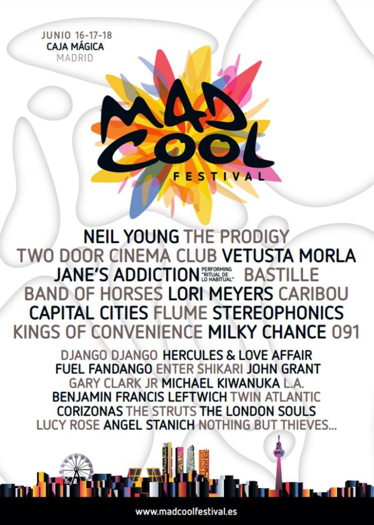 mad cool festival cartel 2016