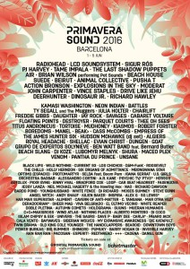 primavera sound 2016 cartel