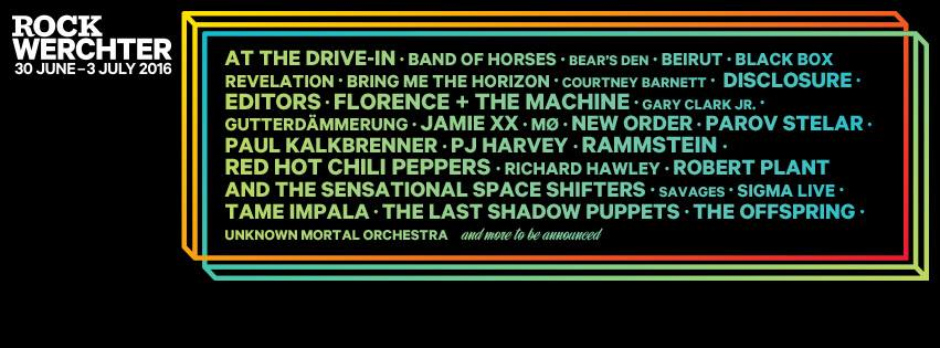 rock werchter 2016 cartel