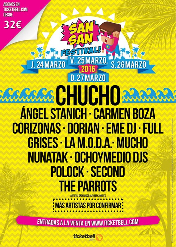 sansan festival 2016 cartel