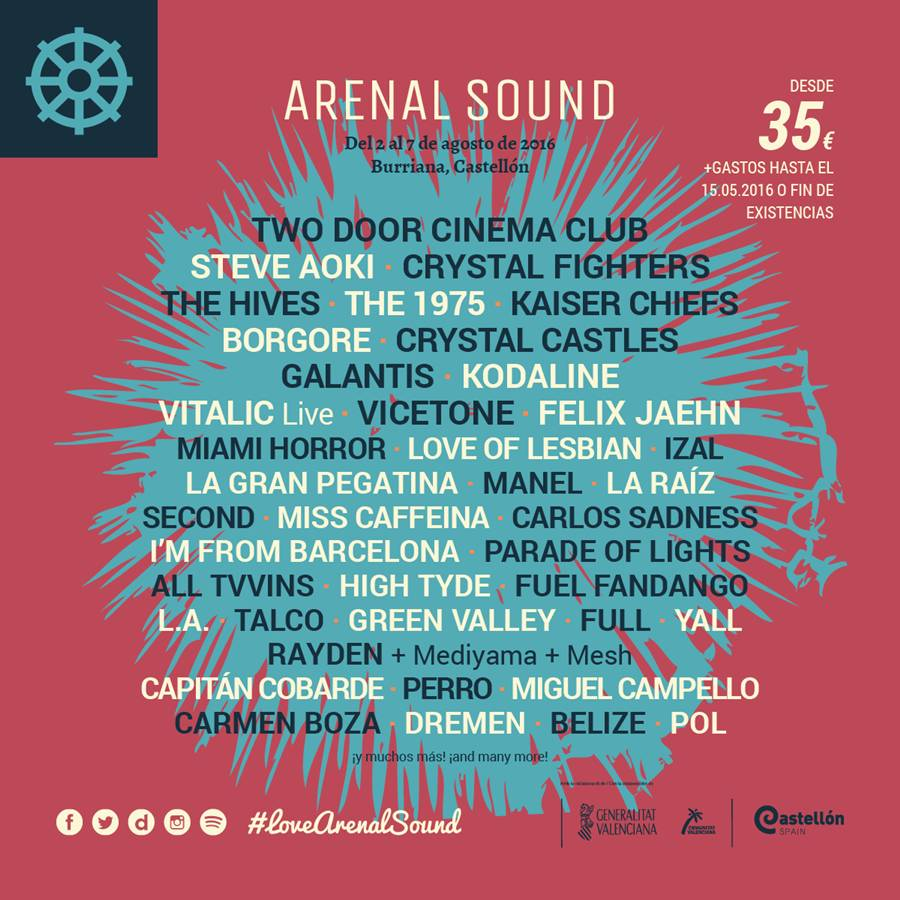 arenal sound 2016 cartel