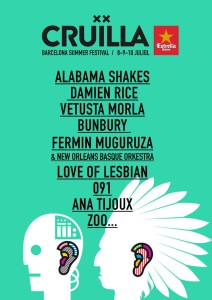 festival cruilla 2016 cartel